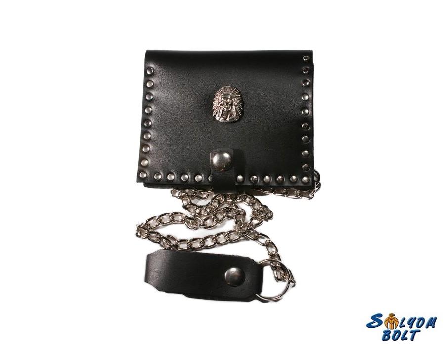 Marhabőr pénztárca indián fej dísszel - Ajándéktárgyak 2c7ae71200