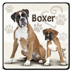 Kutyás hűtőmágnes, Boxer
