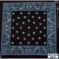 Fekete-kék kendő