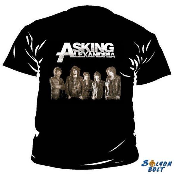 Asking Alexandria zenekaros póló, kifutó termék, M