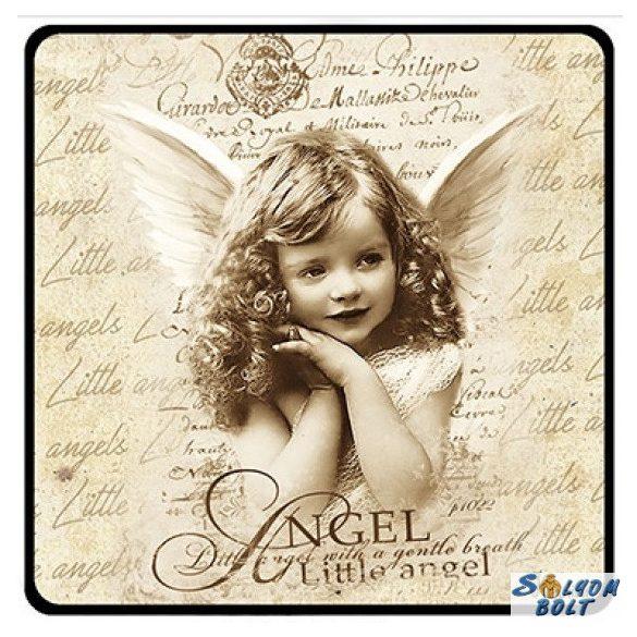 Karácsonyi hűtőmágnes, Angyal lány