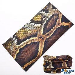 Csősál, kígyóbőr mintával