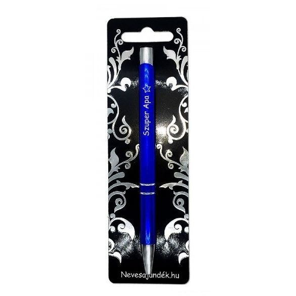 Gravírozott toll, Szuper apa, kék