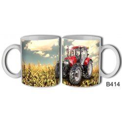 Bögre, piros traktor
