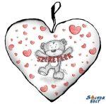 Szív alakú párna, Szeretlek, maci szívekkel