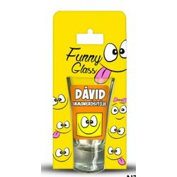 Dávid pálinkás pohár