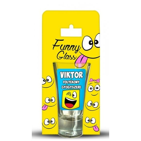 Viktor pálinkás pohár