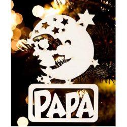Karácsonyfa dísz, Papa, hold