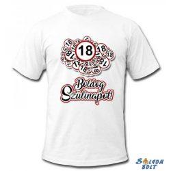 Születésnapi póló, Boldog 18.20.30.40.50.60.70. szülinapot