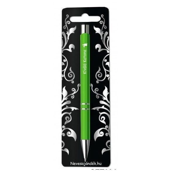 Gravírozott toll, Kiváló katona, zöld