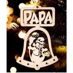 Karácsonyfa dísz, Papa, hóember