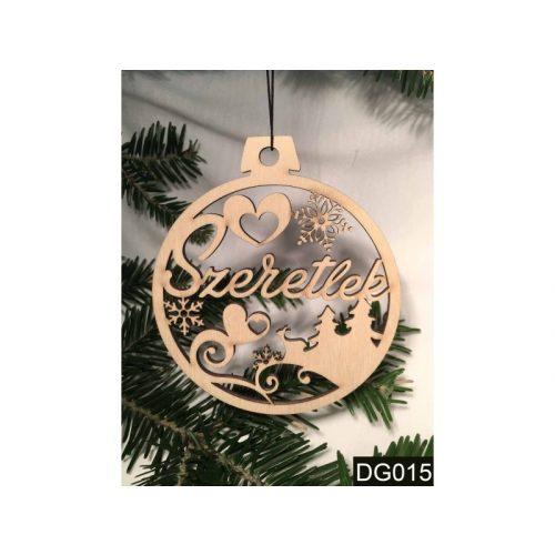 Karácsonyfa dísz, Szeretlek