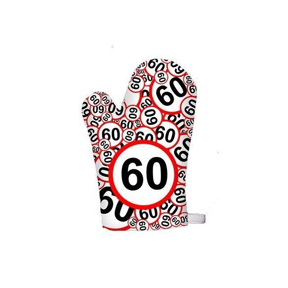 Vicces edényfogó kesztyű, 18 20 30 40 50 60 számokkal