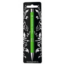 Gravírozott toll, Legjobb asszisztens, zöld