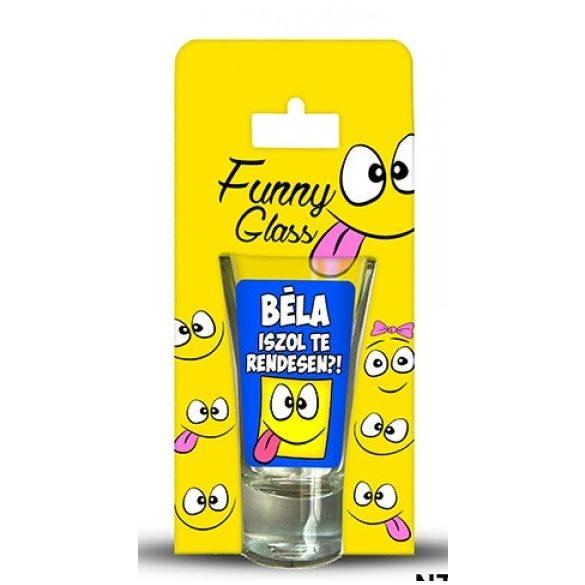 Béla pálinkás pohár