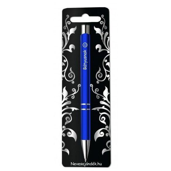 Gravírozott toll, Bátyusnak, kék