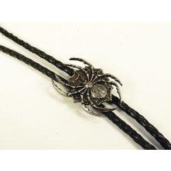 Leather cravat, spider