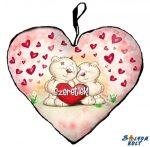 Szív alakú párna, Pimi maci pár, szeretlek