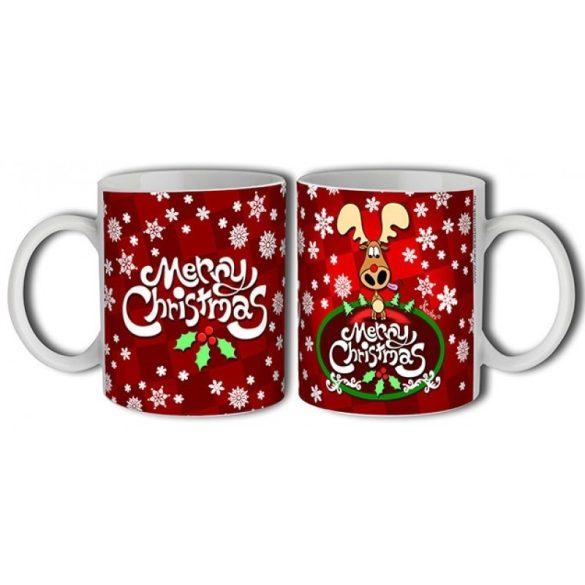 Bögre karácsonyra, rénszarvasos karácsony