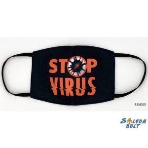 Vicces szájmaszk, stop vírus