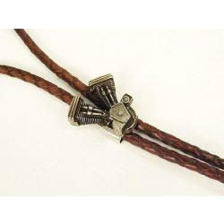 Leather cravat, V-Block
