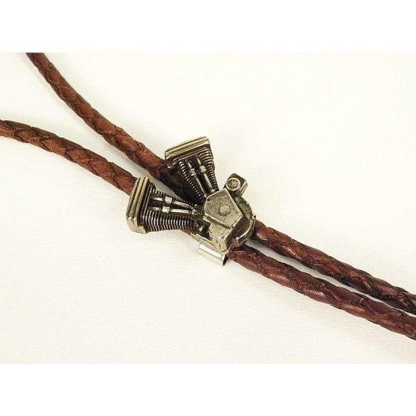 Fonott bőr nyakkendő, V-Blokk - amerikai nyakkendő