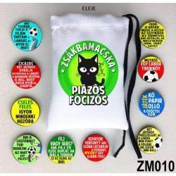 Zsákbamacska társasjáték, Piázós-focizós társasjáték