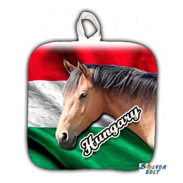 Vicces edényfogó, Hungary - barna ló