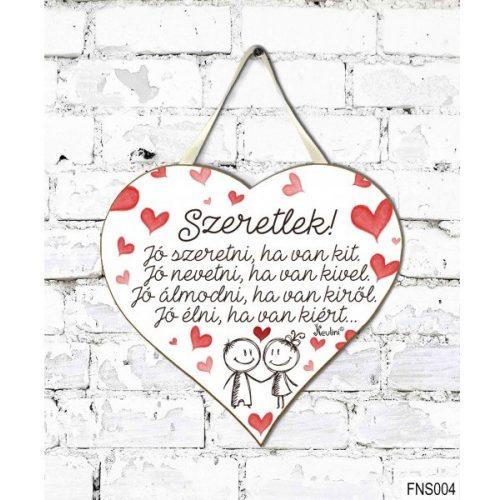Szív tábla, falra, szívek, Jó szeretni, ha van kit, szerelmes ajándék