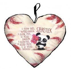 Szív alakú párna, A legszebb érzés, panda maci