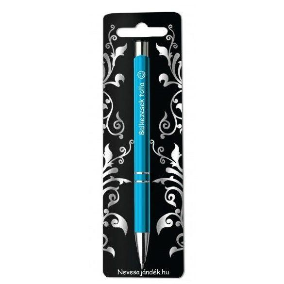 Gravírozott toll, Balkezesek tolla, kék