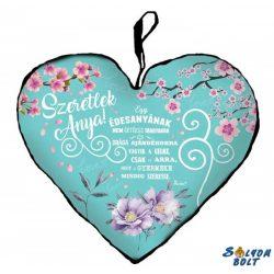 Szív alakú párna, Anyák napja, Szeretlek anya!