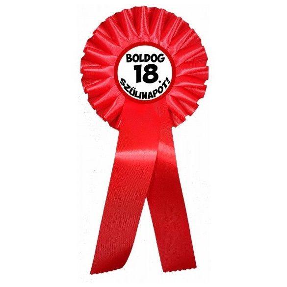 Díjszalag születésnapra, Boldog 18.....szülinapot!