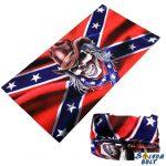 Csősál, déli zászló koponyával