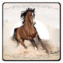 Lovas hűtőmágnes, futó barna ló