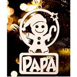 Karácsonyfa dísz, Papa, manó