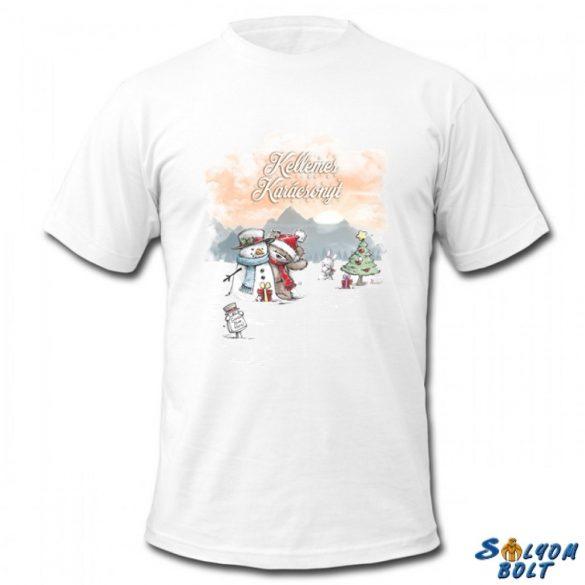 Karácsonyi póló, Maci és hóember