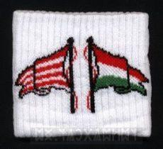 Csuklószorító - fehér alapon 2 zászló