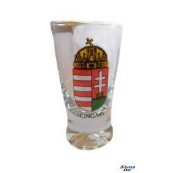Halb Glass, bunt Wappen