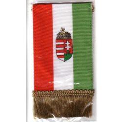 Autós zászló, 4 szögletű, címeres, rojtokkal