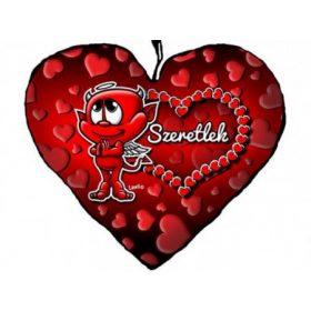 Szerelmes szív alakú párnák