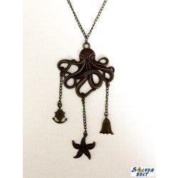 Polip nyaklánc, tengeri csillag, szellem és kormánykerekes horgony függőkkel
