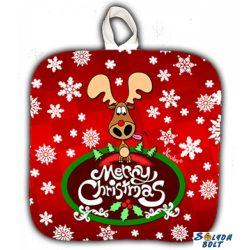 Konyhai edényfogó karácsonyi rénszarvas mintával