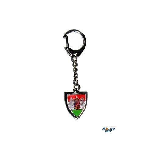 Kulcstartó - Pajzs, kétangyalos címeres