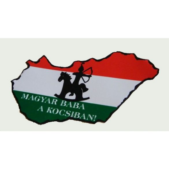 Aufkleber, Ungarn, Ungarische Baby im Auto