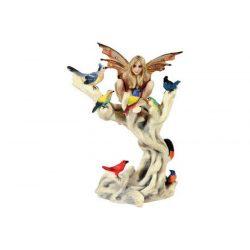 Tündér madarakkal szobor