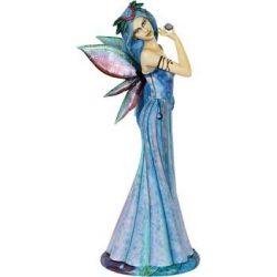 Kék ruhás tündér szobor