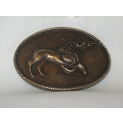 Belt buckle, deer