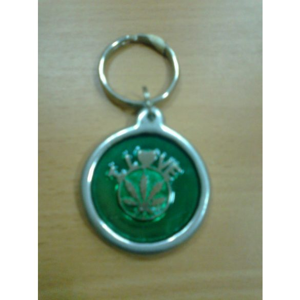 Kulcstartó, zöld
